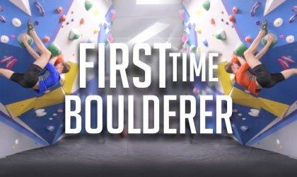 First Time Boulderer